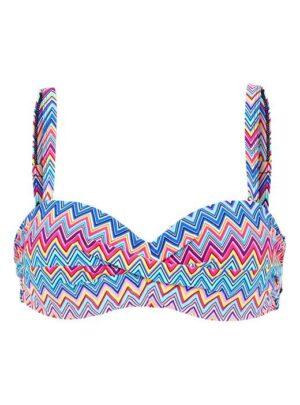 Cellbes Bikini-bh med bøjle bandeau Mønstret