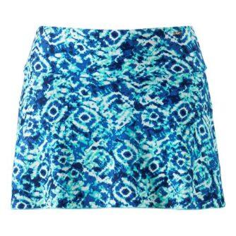 Cellbes Blåmønstret badenederdel med trusser Blå Mønstret