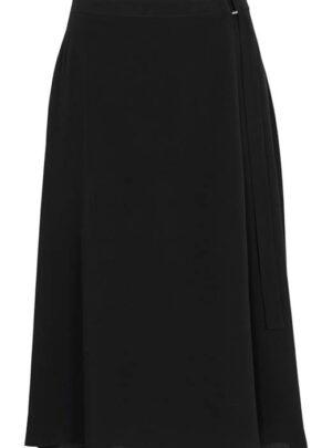 Cellbes Slå om-nederdel med elastik i taljen bagpå Sort