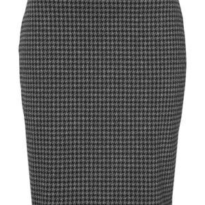 Cellbes Jacquardstrikket nederdel Sort Hanefjedsmønster