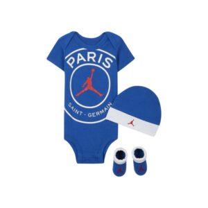 Paris Saint-Germain-sæt med body, hue og booties til babyer - Blå