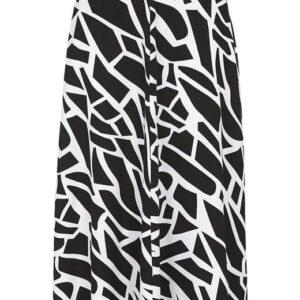 Cellbes Vid, mønstret nederdel Sort Mønstret