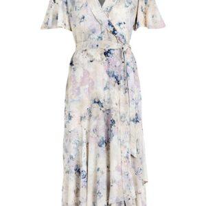 Cellbes Slå om-kjole med flæse Mønstret