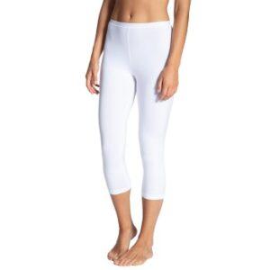 Calida Natural Comfort Capri Leggings Hvid bomuld Large Dame