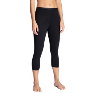 Calida Natural Comfort Capri Leggings Sort bomuld Large Dame