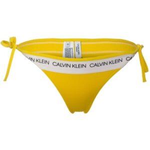 Calvin Klein CK Logo String Side Tie Bikini Gul Large Dame