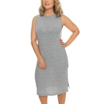 Calvin Klein Sophisticated Sleeveless Nightshirt Grå polyester Large Dame