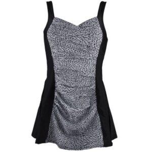 Damella Esther Basic Swimsuit Dress Sort/Hvid 38 Dame
