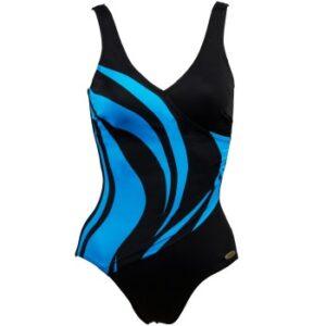 Damella Julia Basic Swimsuit Blå 36 Dame