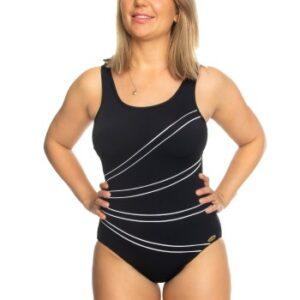 Damella Keira Chlorine Resistant Swimsuit 36-50 Sort 36 Dame
