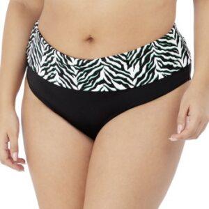 Elomi Zulu Rhythm Fold Bikini Brief Sort/Hvid 42 Dame
