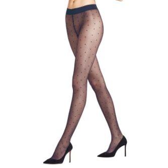 Falke Strømpebukser Women Seasonal Dot 15 Den Marineblå polyamid Large Dame
