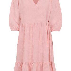 Freequent Slå om-kjole Magnolia Rosa