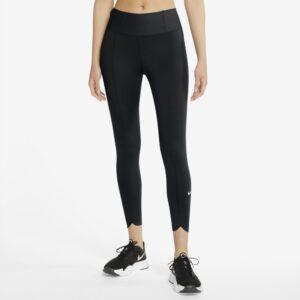 Korte Nike One Luxe Icon Clash-leggings til kvinder - Sort
