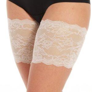 Magic Strømpebukser Be Sweet To Your Legs Lace Benhvid X-Large Dame