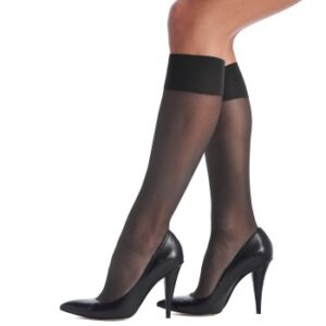 Oroblu Strømpebukser Mi-Bas Jeune 20 Sheer Knee-Highs Mørkgrå polyamid One Size Dame
