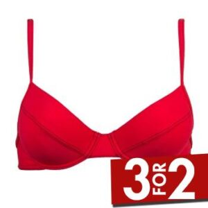 Sloggi Ibiza Push Up Bikini Rød B 34 Dame