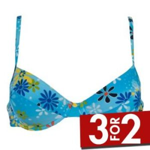 Sloggi Palau Bøjle Bikini Turkis Mønster B 46 Dame