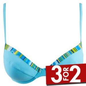 Sloggi Samoa Push Up Bikini Turkise A 36 Dame