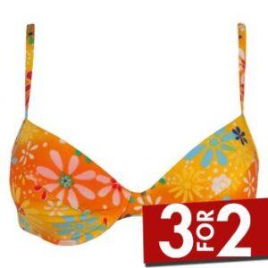 Sloggi Tonga Push Up Bikini Orange mønster A 36 Dame