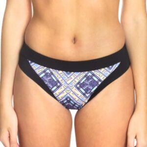 Sunseeker Tribe Attack Full Classic Bikini Panty Sort mønstret 44 Dame