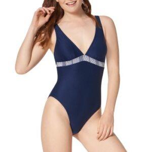 Triumph Summer Waves Padded Swimsuit Mørkblå B 36 Dame