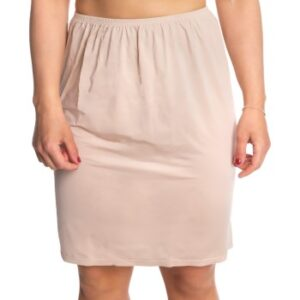Trofe Slip Skirt Short Beige Large Dame