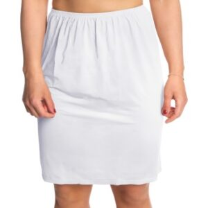Trofe Slip Skirt Short Hvid Large Dame