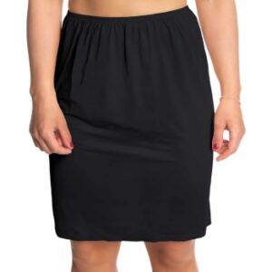 Trofe Slip Skirt Short Sort Large Dame