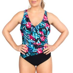 Trofe Tropical Aruba Swimsuit Sort blomstret 38 Dame
