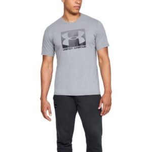 Under Armour Boxed Sportstyle Short Sleeve T-shirt Grå Large Herre