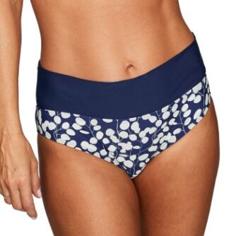 Abecita English Garden Folded Bikini Brief Marine mønster 38 Dame