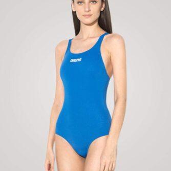 Arena Solid Swim Pro til damer - Lyseblå