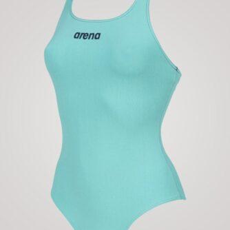 Arena Solid Swim Pro til damer - Mint/mørkeblå