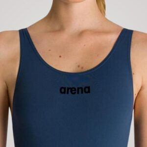 Arena Solid Swim Pro til damer - Mørkeblå/sort