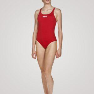 Arena Solid Swim Pro til damer - Rød