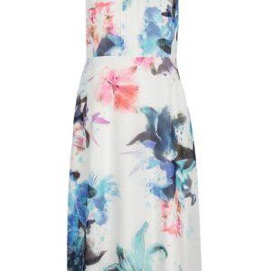 Cellbes Ærmeløs, blomstret kjole Hvid Mønstret