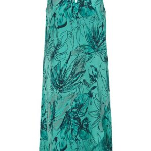 Cellbes Ærmeløs kjole med perledekoration Aqua Mønstret