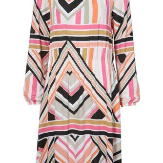 Cellbes Jerseykjole med smocksyning Flerfarvet Mønstret