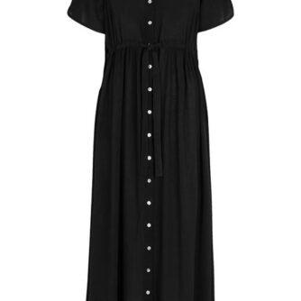 Cellbes Lang kjole i crepe Sort