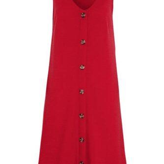 Cellbes Letkrøllet jerseykjole med knapper Rød