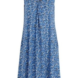 Cellbes Mønstret jerseykjole i let A-facon Blå Blomstret