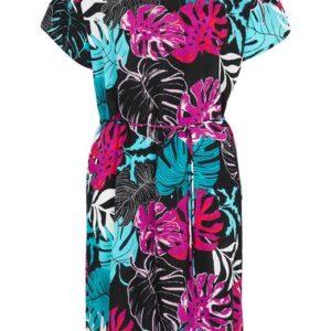 Cellbes Mønstret kjole med bindebælte Mønstret