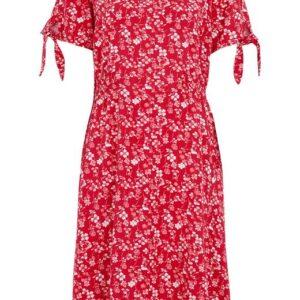 Cellbes Mønstret kjole med smocksyning Rød Mønstret