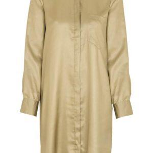 Soyaconcept Guldfarvet lang kjorte Candie Guld