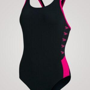 Speedo Boom Logo Splice Muscleback - Sort/lyserød