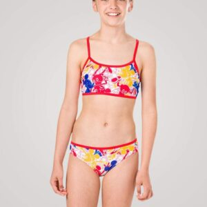 Speedo Disney Mickey Mouse 2 piece bikini til piger - Blå/rød