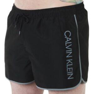 Calvin Klein Badebukser Core Solid Short Runner Swim Shorts Sort polyester Large Herre