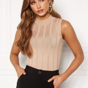 Happy Holly AnaBelle knitted sleeveless top Beige 40/42