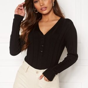 Happy Holly Anabelle Knitted collar Top Black 44/46